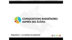 Diapositives F Les membres du parlement Questce quune