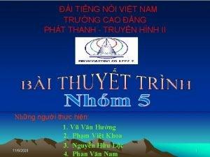 I TING NI VIT NAM TRNG CAO NG