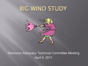 BIG WIND STUDY Resource Adequacy Technical Committee Meeting