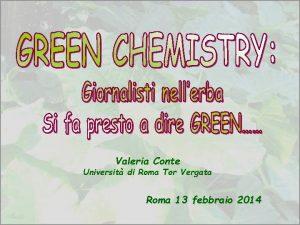 Valeria Conte Universit di Roma Tor Vergata Roma