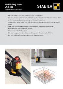 Multiliniov laser LAX 400 Profesionln laser nejen pro