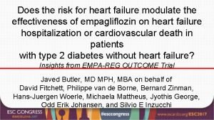 Does the risk for heart failure modulate the
