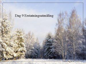 Dag 9 Erstatningsutmling Lasse Simonsen 1 1 Den