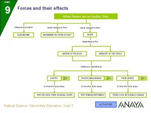 UNIT 9 Forces and their effects When forces