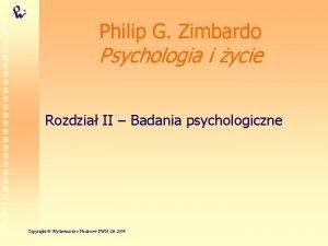 Philip G Zimbardo Psychologia i ycie Rozdzia II