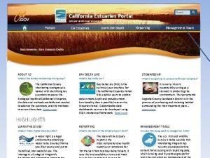 My Water Quality California Estuaries Portal ESTUARY MONITORING