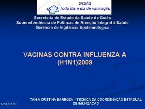 GOIS Todo dia dia de vacinao Secretaria de