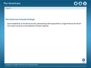 The Americans Chapter 2 The American Colonies Emerge