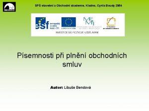 SP stavebn a Obchodn akademie Kladno Cyrila Boudy
