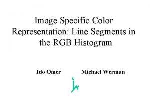 Image Specific Color Representation Line Segments in the