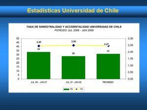 Estadsticas Universidad de Chile Estadsticas Universidad de Chile