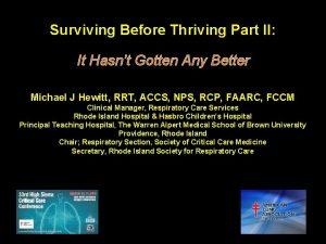 Surviving Before Thriving Part II It Hasnt Gotten