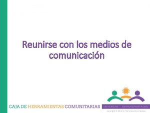 Reunirse con los medios de comunicacin Copyright 2014
