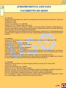 JURISPRUDENCIA ASOCIADA NACIMIENTO DE HIJOS AS 19924219 Sentencia