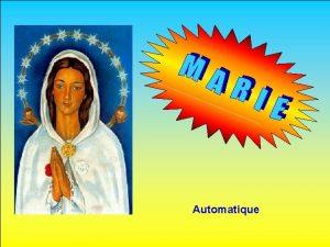 Automatique Un ange est venu voir Marie ce