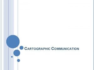CARTOGRAPHIC COMMUNICATION TWO TYPES OF MAPS Reference Maps