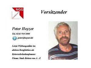 Vorsitzender Peter Hoyzer Tel 0241 930 5000 peterhoyzer