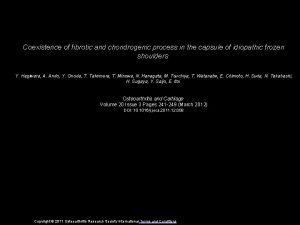 Coexistence of fibrotic and chondrogenic process in the