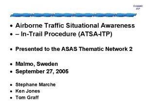 Oceanic ITP Airborne Traffic Situational Awareness InTrail Procedure