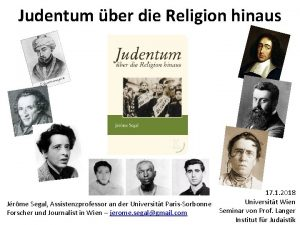 Judentum ber die Religion hinaus 17 1 2018
