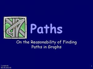Paths On the Reasonability of Finding Paths in