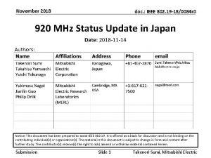 November 2018 doc IEEE 802 19 180084 r