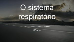 O sistema respiratrio 8 ano Funo O sistema