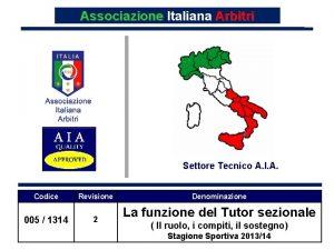 Associazione Italiana Arbitri Settore Tecnico A I A