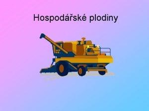 Hospodsk plodiny Jmno autora Paed Dr rka Kindlov