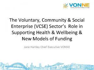 The Voluntary Community Social Enterprise VCSE Sectors Role