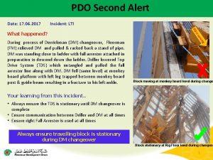 PDO Second Alert Date 17 06 2017 Incident
