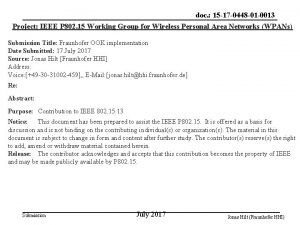 doc 15 17 0448 01 0013 Project IEEE