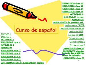 EJERCICIOS clase 12 EJERCICIOS clase 13 EJERCICIOS clase