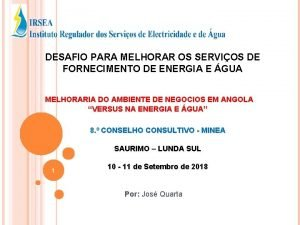 DESAFIO PARA MELHORAR OS SERVIOS DE FORNECIMENTO DE