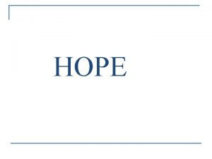 HOPE HOPE Helping Outstanding Pupils Educationally www finaid