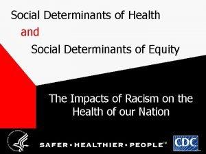 Social Determinants of Health and Social Determinants of