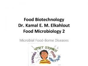 Food Biotechnology Dr Kamal E M Elkahlout Food