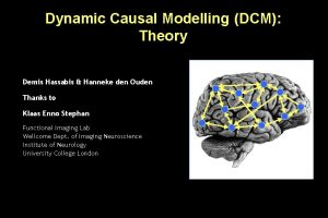 Dynamic Causal Modelling DCM Theory Demis Hassabis Hanneke