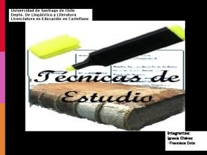 Universidad de Santiago de Chile Depto De Lingstica