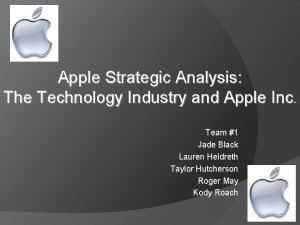 Apple Strategic Analysis The Technology Industry and Apple