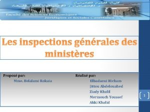 Les inspections gnrales des ministres Propos par Ralis