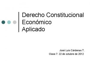 Derecho Constitucional Econmico Aplicado Jos Luis Crdenas T