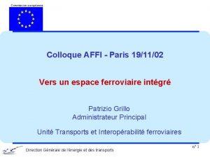 Commission europenne Colloque AFFI Paris 191102 Vers un