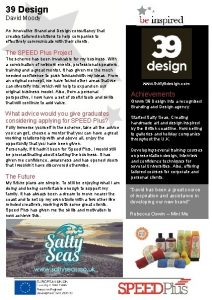 39 Design David Moody An innovative Brand Design