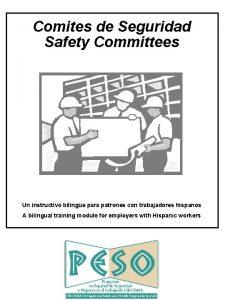 Comites de Seguridad Safety Committees Un instructivo bilinge