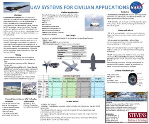 UAV SYSTEMS FOR CIVILIAN APPLICATIONS Civilian Applications Abstract