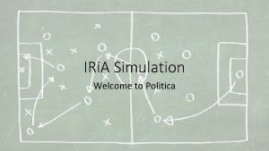 IRi A Simulation Welcome to Politica Simulation Points