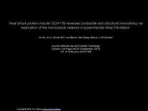 Heat shock protein inducer GGA59 reverses contractile and