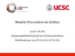Modelo Preventivo de Delitos Ley N 20 393