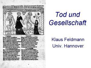 Tod und Gesellschaft Klaus Feldmann Univ Hannover Traditioneller